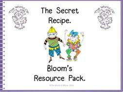 Book 4 – The Secret Recipe – Bloom's Resource Pack by The World Of Whyse.