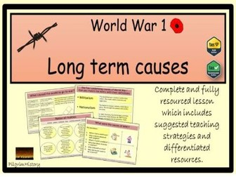 Causes of World War 1 - long term