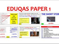 EDUQAS Paper 1 Revision PowerPoint with VIDEO (GCSE English Language)