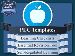 PLC Templates [Personal Learning Checklist, Metacognition & Self-Regulated Learning]
