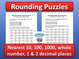 rounding maths puzzles worksheets by fullshelf  teaching resources  rounding maths puzzles worksheets by fullshelf  teaching resources  tes