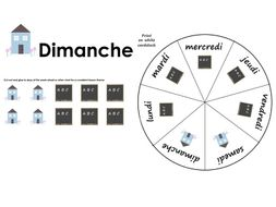 Days of the Week Flashcards & Wheel [FRENCH only]
