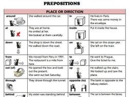 list of prepositions in spanish and english pdf