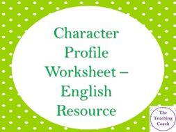 Character Profile Worksheet - Creative Descriptive Writing