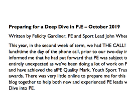 Ofsted Deep Dive in PE document