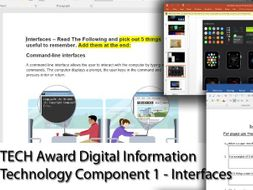 Tech Award Digital Information Technology - Introduction To User Interfaces