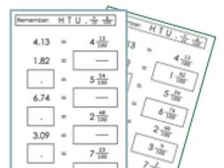 Fractions decimals homework help