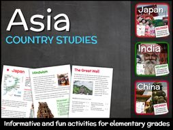 Country Studies Bundle for Elementary Grades (China, Japan & India)