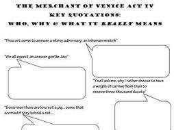 merchant of venice key quotations The hath not a jew eyes  quote is probably his most famous, though i forget where it is in the play it evokes sympathy from the reader.