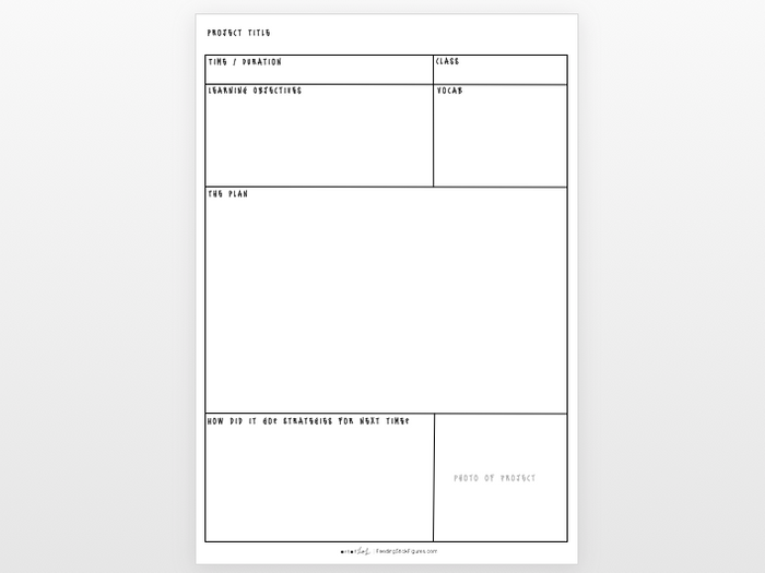 simple lesson plan template