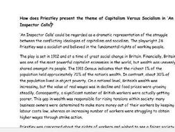 History Sample Essays Capitalism And Socialism In An Inspector Calls Essays On Goals In Life also Ad Analysis Essays Capitalism And Socialism In An Inspector Calls By Shd  Teaching  Good Topic Sentences For Persuasive Essays