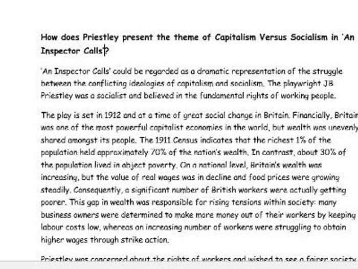 essays on capitalism and socialism