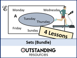 Sets or Venn Diagrams BUNDLE (4 Lessons)