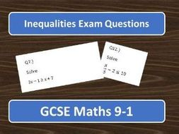 GCSE Maths 9-1 Inequalities Exam Questions