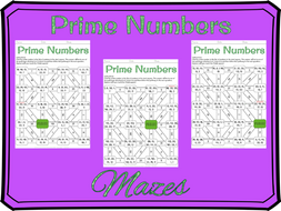Identifying prime numbers maze