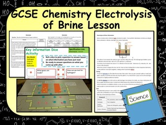New KS4 AQA GCSE Chemistry (Science) Electrolysis of Brine Lesson