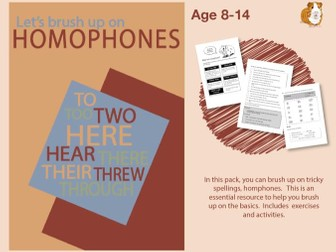 Brush Up On Homophones (Improve Your English Work Pack) 9-14 years