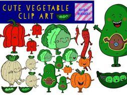Cute Vegetable Clip Art