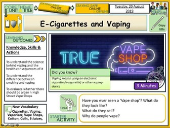 E-Cigs and Vaping