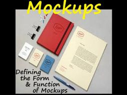 Graphic Arts MOCKUPS: Function, Purpose & How to Create One = Slideshow Format