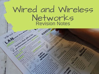 Wired and Wireless Networks Revision