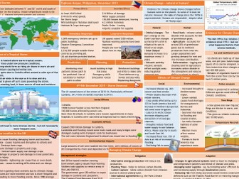 Natural Hazards and Climatic Hazard AQA revision sheets