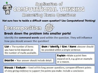Use Computational Thinking to Answer Exam Questions