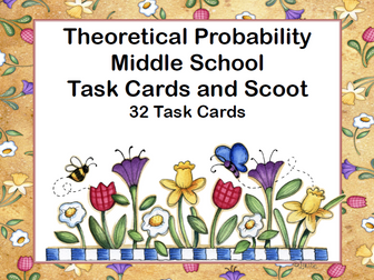 Theoretical Probability-Middle School-Scoot and Task Cards-Spring