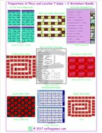 Prepositions of Place and Location 7 Game Plus 2 Worksheet Bundle