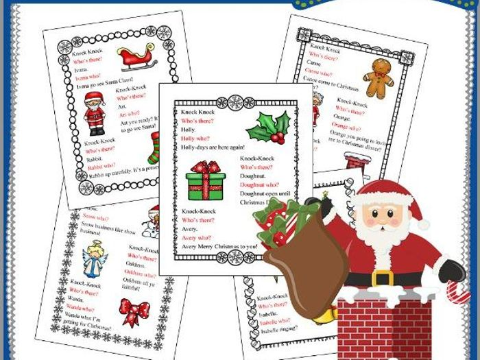 Image of: Printable Christmas Knockknock Jokes By Knowledgeboxcentral Teaching Resources Tes Tes Christmas Knockknock Jokes By Knowledgeboxcentral Teaching