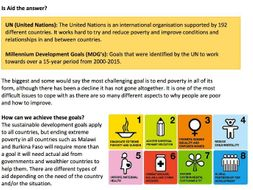 Ecosystems, climate change, development and social development revision guide - AQA and Eduqas