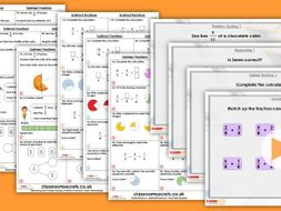 Year 3 Subtract Fractions Summer Block 1 Maths Lesson Pack