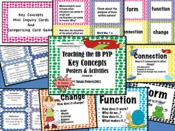 IB PYP Key Concepts Posters and Activities