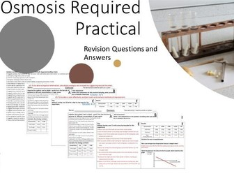 *Updated* Osmosis Required Practical Planning with 9-1 Questions and Answers