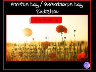 Armistice Day / Remembrance Day / Remembrance Sunday / Poppy Day Presentation