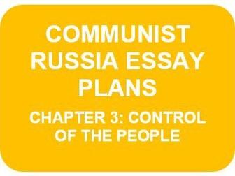 RUSSIA 1917-91 ESSAY PLANS: CH3