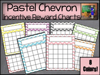 Chevron Sticker Charts - Pastel