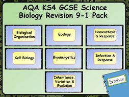 AQA KS4 GCSE Science Biology Revision 9-1 Pack