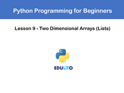 Python Video Tutorials #9 - Using 2D Arrays (Lists) by