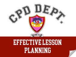 CPD - Effective Lesson Planning