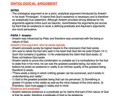 Ontological argument essay