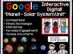 Google Drive Planets-Solar System Unit Interactive Notebook For Google Classroom