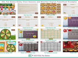 Seasons and Weather Kooky Class English PowerPoint Game