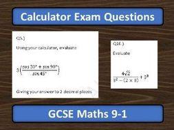 GCSE Maths 9-1 Using Calculator Exam Questions