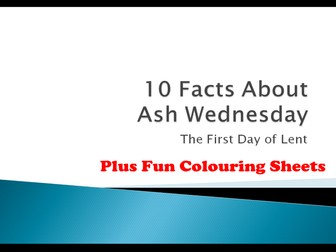 10 Facts About Ash Wednesday And 9 Fun Christian Colouring Sheets