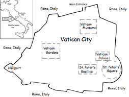 VATICAN CITY - Printable handout with simple map