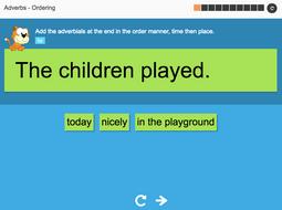 Ordering adverbs - Interactive Activity - KS3 Spag