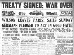 World War One - The Treaty of Versailles