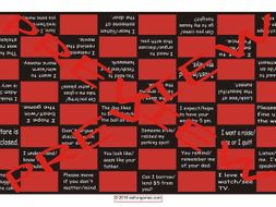 Confusing Verbs Checker Board Game