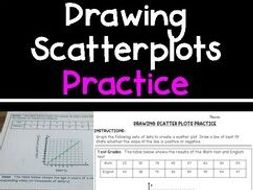 Drawing Scatterplots & Line of Best Fit Practice Pages!